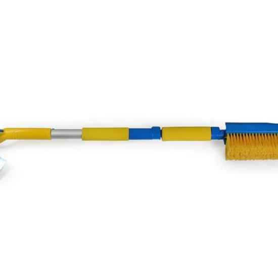 Щетка сметка со скребком, водосгоном, раскладная, телескопическая 92-112 см Dollex SNW-2242