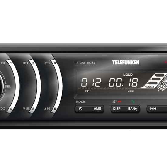 Автомагнитола 1DIN Telefunken CCR8091B