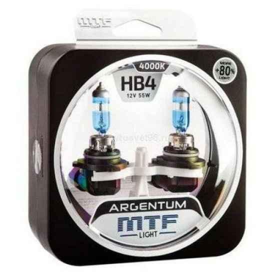 Галогеновая лампа MTF Argentum+80% HB4 9006 12V 55W 4000к