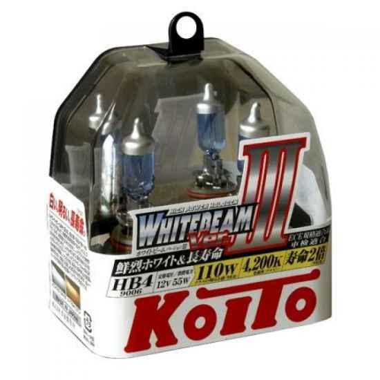 Галогенные лампы KOITO P0757W 9006 HB4 WHITEBEAM 12V 55W (110W)