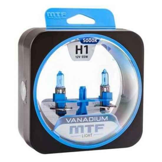 Гологеновая лампа MTF Vanadium H1 12V 55W 5000К