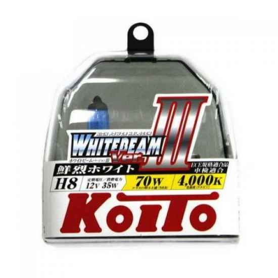 Галогенные лампы KOITO P0758W H8 WHITEBEAM 12V 35W (70W)