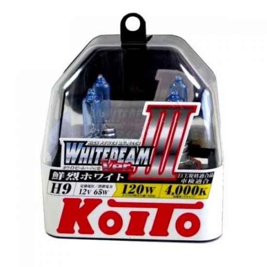 Галогенные лампы KOITO P0759W H9 WHITEBEAM 12V 65W (120W)