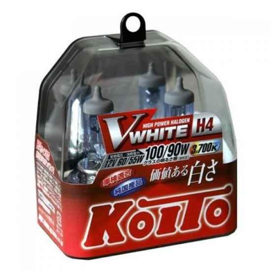 Галогенные лампы KOITO P0746W H4 12V 60/55W (100/90W)