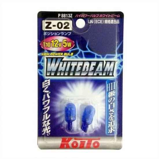 Галогенные лампы KOITO P8813Z WHITEBEAM T10 12V 5W 3900К