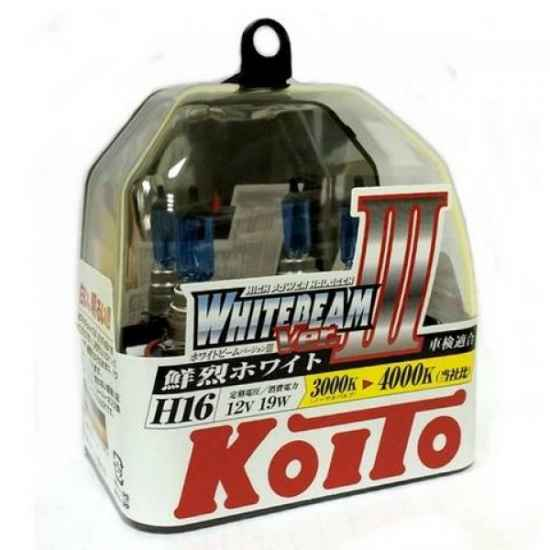 Галогенные лампы KOITO P0749W H16 WHITEBEAM 12V 55W (100W)