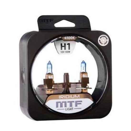 Галогеновая лампа MTF IRIDIUM H1 12V 55W 4100K