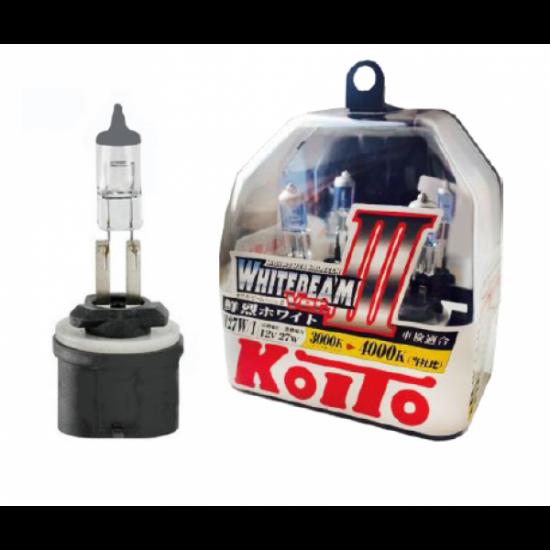 Галогенные лампы KOITO P0728W H27/1 WHITEBEAM 12V 27W