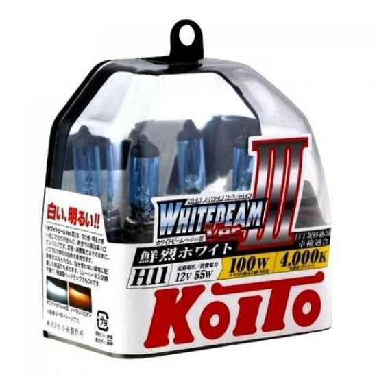 Галогенные лампы KOITO P0750W H11 WHITEBEAM 12V 55W (100W)