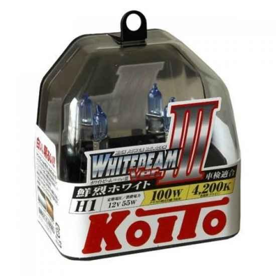 Галогенные лампы KOITO P0751W H1 WHITEBEAM 12V 55W (100W)