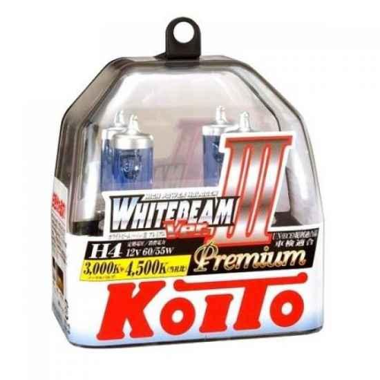 Галогенные лампы KOITO P0744W H4 WHITEBEAM Premium 12V 60/55W (135/125W)