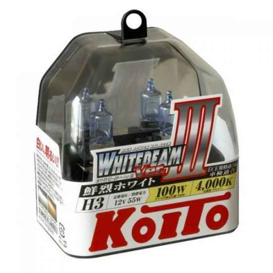 Галогенные лампы KOITO P0752W H3 WHITEBEAM 12V 55W (100W)