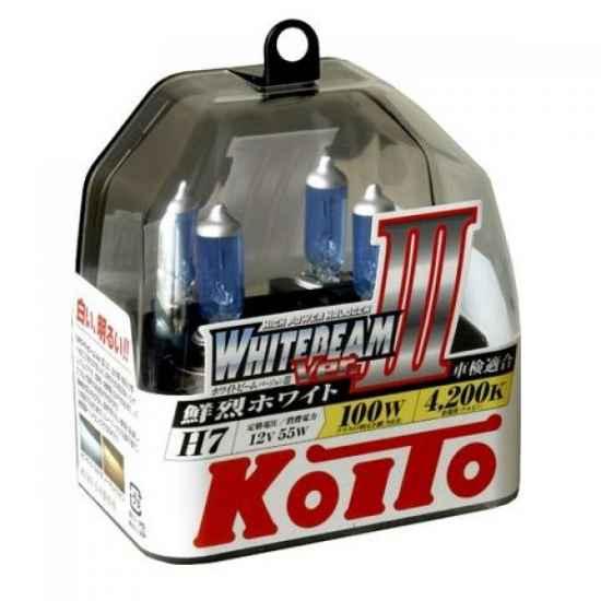 Галогенные лампы KOITO P0755W H7 WHITEBEAM 12V 55W (100W)