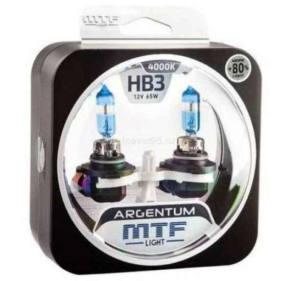 Галогеновая лампа MTF Argentum+80% HB3 9005 12V 65W 4000к