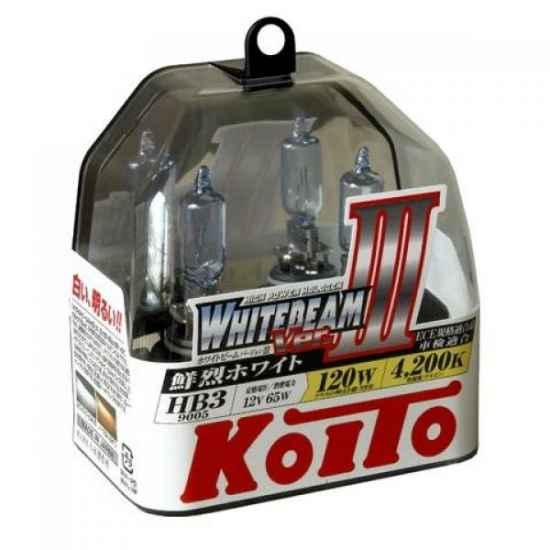 Галогенные лампы KOITO P0756W 9005 HB3 WHITEBEAM 12V 65W (120W)