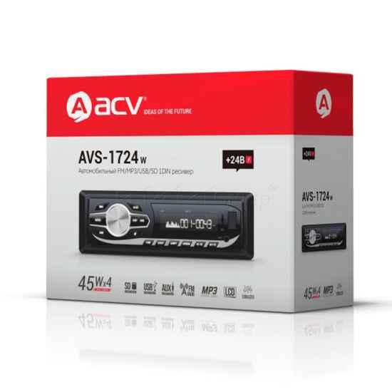 Автомагнитола 1DIN ACV AVS-1724W