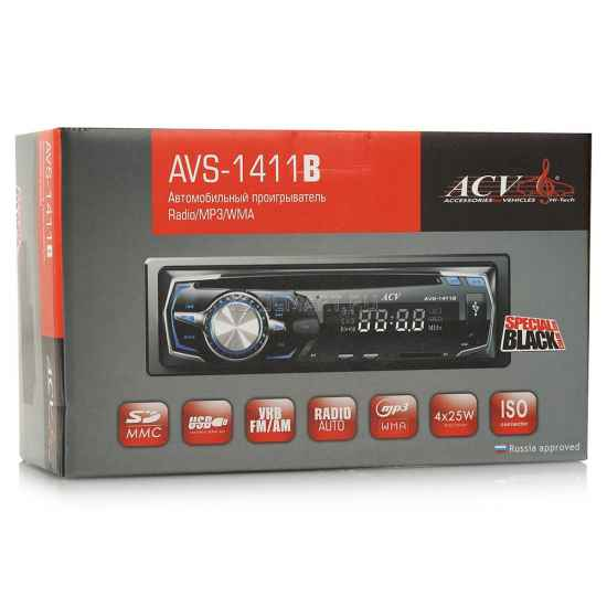 Автомагнитола 1DIN ACV AVS-1411B