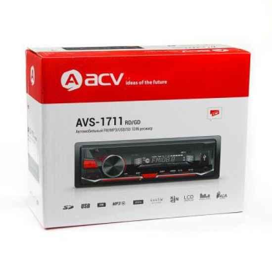 Автомагнитола 1DIN ACV AVS-1711GD