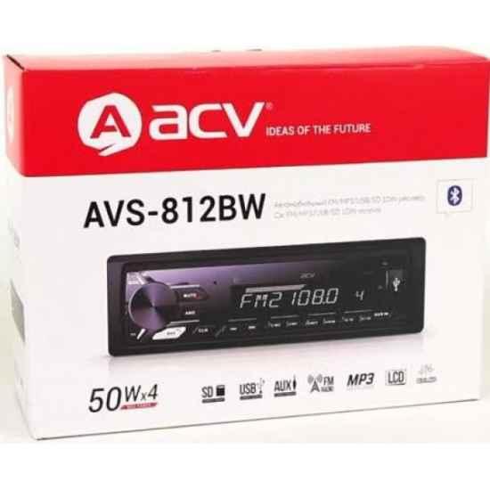 Автомагнитола 1DIN ACV AVS-812BW