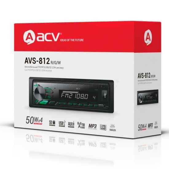 Автомагнитола 1DIN ACV AVS-812G
