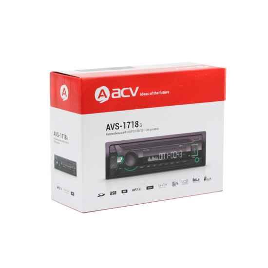 Автомагнитола 1DIN ACV AVS-1718G