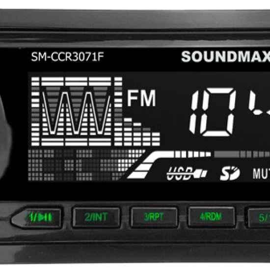 Автомагнитола 1DIN Soundmax SM-CCR3071F