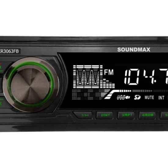 Автомагнитола 1DIN Soundmax SM-CCR3063FB
